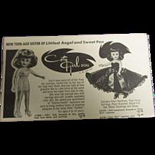 """Vintage Original HFT """"Coty Girl Doll"""" 1957 Booklet"""
