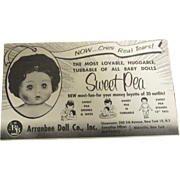 "Vintage Original HFT ""SweetPea"" 1957 Booklet"