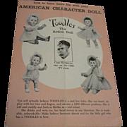 """Vintage Original HFT """"Toodles"""" 1950s Booklet"""