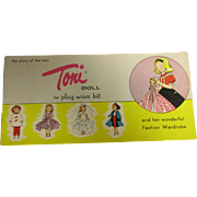 "Vintage Original HFT ""Toni"" 1950s Booklet by American Character"