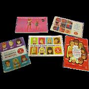 Vintage Original Mattel Barbie Booklets Lot of 5