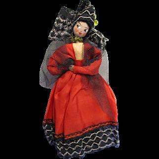 Vintage German BAPS Spanish Ethic Lady Doll