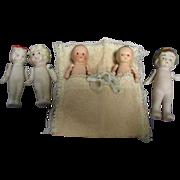 Vintage All-Bisque Dolls Lot of 5