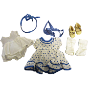 Vintage 1930s Tagged Ideal Shirley Temple Outfit