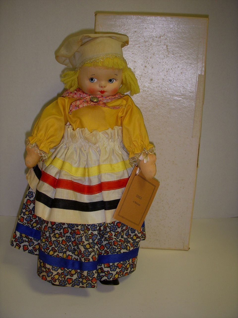 "Vintage Cloth Molly-'es Doll ""Belgium"" All Original with Tag and Box!"