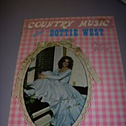 """1973 Vintage """"Country Music Star Dottie West"""" Paper Doll Set ! - Red Tag Sale Item"""