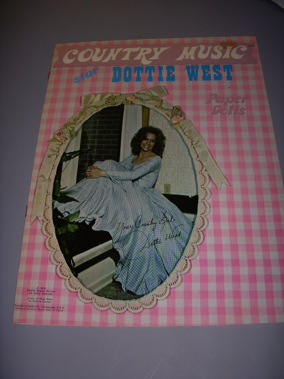 "1973 Vintage ""Country Music Star Dottie West"" Paper Doll Set !"