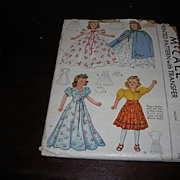 "Vintage McCall Doll Pattern for Effanbee Little Lady and some of the Movie Doll and other similar 18"" dolls"