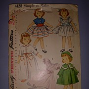 "Vintage Simplicity Doll Pattern for 23"" Doll."