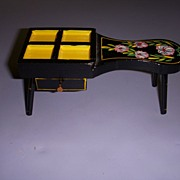 HTF Vintage Black Lacquered Cobbler's Bench!
