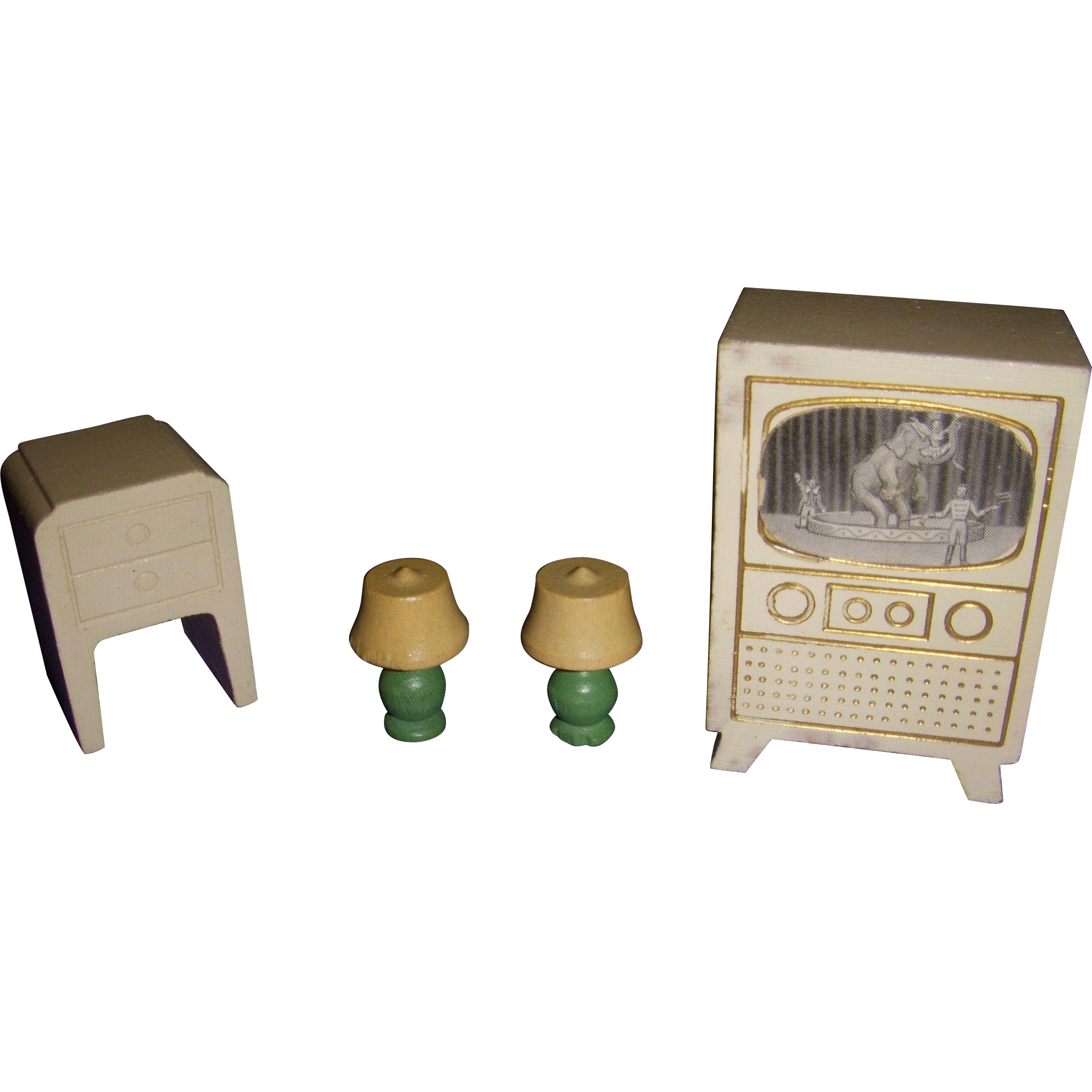Vintage Wooden Dollhouse 38