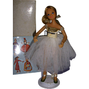 "Vintage Boxed Flagg Doll ""Formal Ballerina"" All Original"