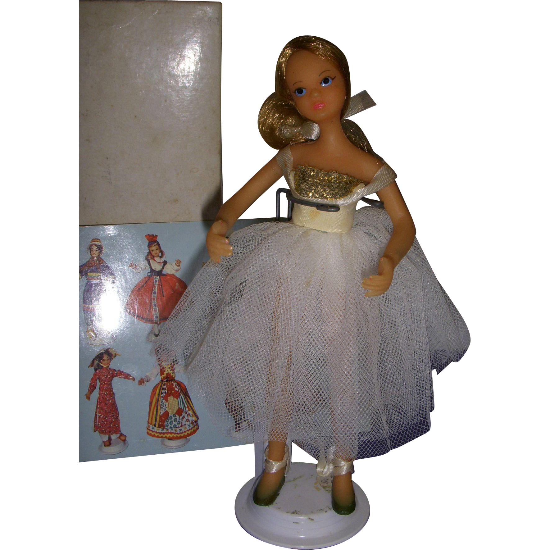 "Vintage Boxed Flagg Doll ""Formal Ballerina"" All Original"