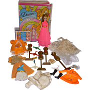 Vintage Dawn Doll Lot - Doll - Case - Clothes