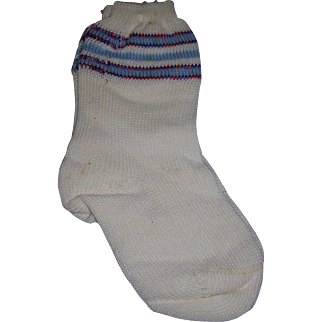 Vintage Doll Socks Old Store Stock