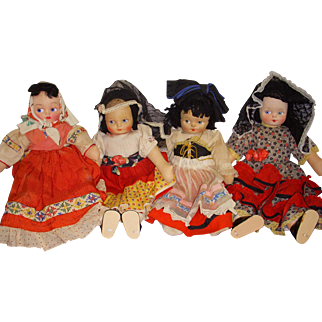 Lot of Vintage Cloth Dolls