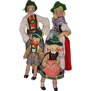 Vintage German BAPS Bavarian Family