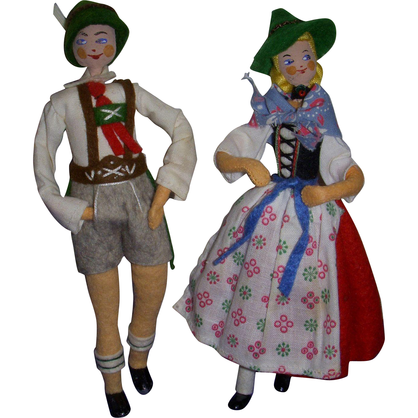 Vintage German BAPS Bavarian Couple