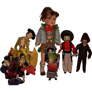 Vintage Boy Dolls Lot of 7