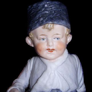 Sweet German Bisque Boy Figurine