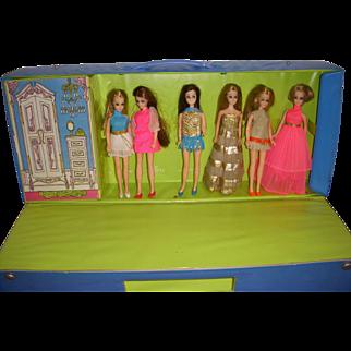 Vintage Dawn Dolls Lot - Dolls - Case -  Original Clothes