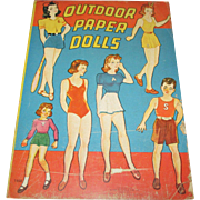 "Vintage Paper Doll Set ""Outdoor Paper Dolls"" Uncut"