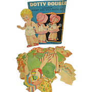 "Vintage Paper Doll Set ""Dotty Double"""