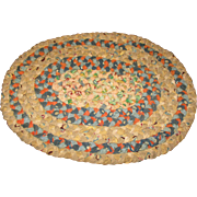 Vintage Oval Braided Rug