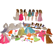Vintage Dawn Dolls Lot - Dolls - Original Clothes & Accessories