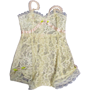 Vintage Madame Alexander Cissy White Lace Chemise