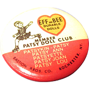 Effanbee Patsy Doll Club Pin