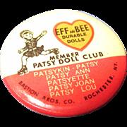 Effanbee Patsy Doll Club Pin