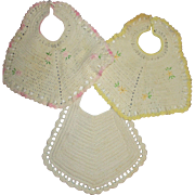 Vintage Baby Bibs for Baby Dolls - Lot of 3