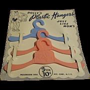 Vintage Dolly's Plastic Hangers MIP