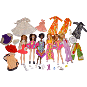 Vintage 1970s Rock Flower & Dawn Type Dolls Lot