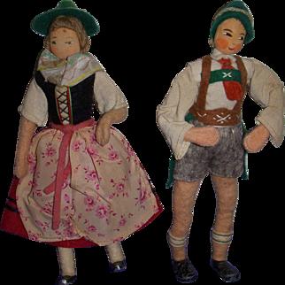Vintage German BAPS Bavarian Couple