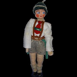 Vintage German BAPS Bavarian Man Doll