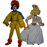 Vintage German BAPS Cinderella and Prince Charming Set