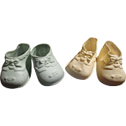 Vintage Baby Doll Shoes Lot of 2 pairs