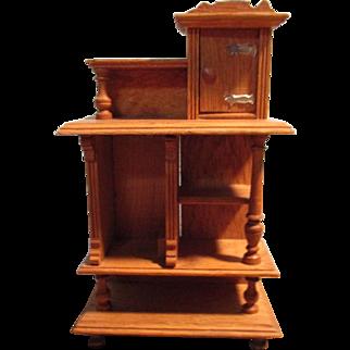 Vintage Wooden Unique Display Cabinet for Dolls
