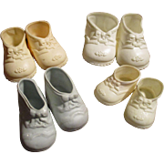 Vintage Baby Doll Shoes Lot of 4 Pairs