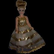 """Vintage Dawn Doll Denise in """"Gold-Go-Round"""" Original Gown"""