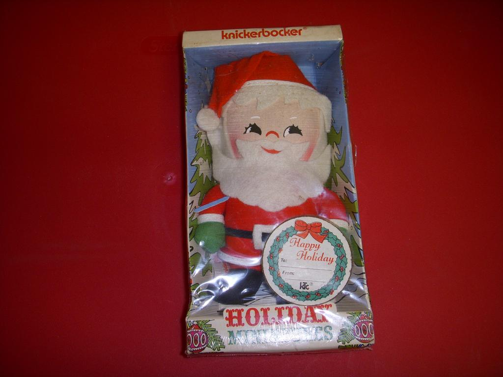 Cloth Santa NRFP by Knickerbocker 1973!