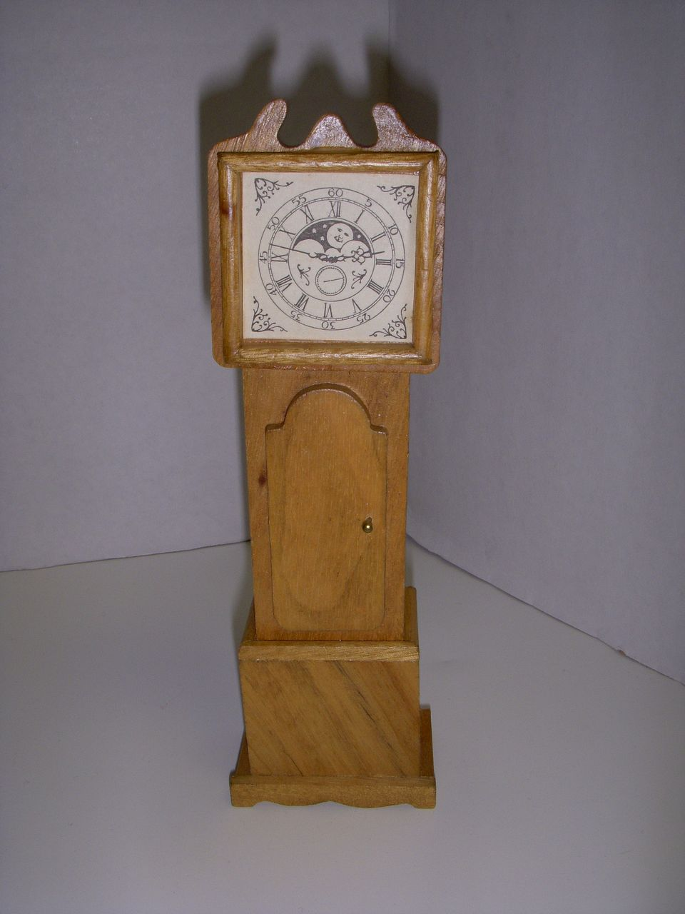 Vintage Wooden Dollhouse Grandfather Clock!