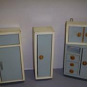 Vintage German Wooden Doll House Furniture Set!