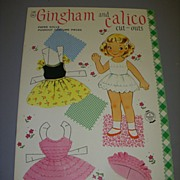 "Vintage ""Gingham and Calico"" Uncut Paper Doll Set !"