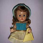 Vintage 1950s Vogue Ginny Doll in Original Tagged Outfit!