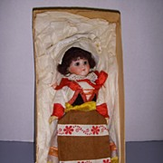 "Antique 7"" German  Bisque Doll All Original !"