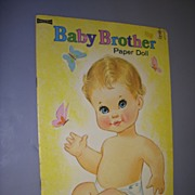 "Vintage ""Baby Brother"" Uncut Paper Doll Set !"