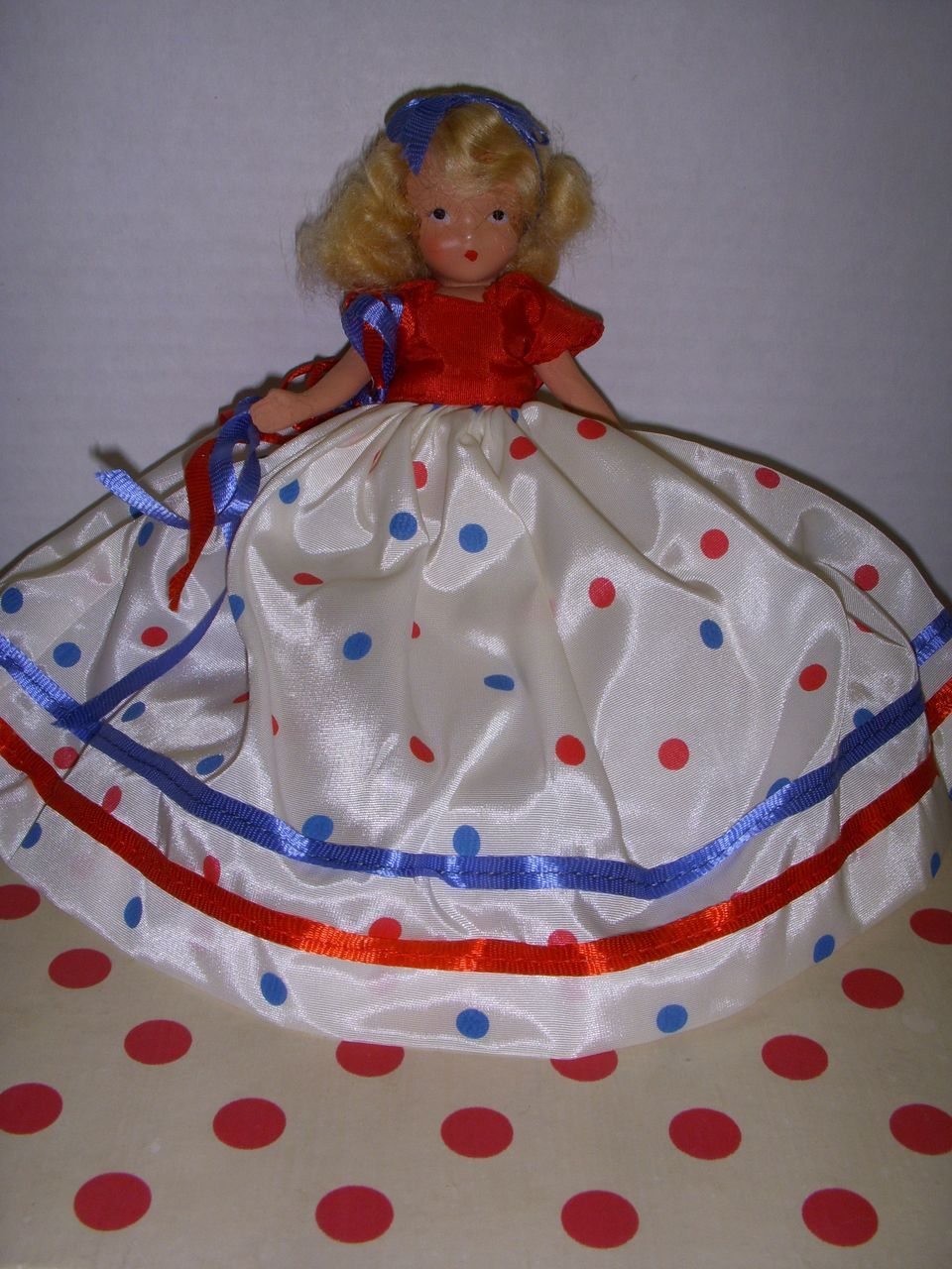 "Nancy Ann Storybook Doll Bisque ""A Very Independent Lady for July""!"